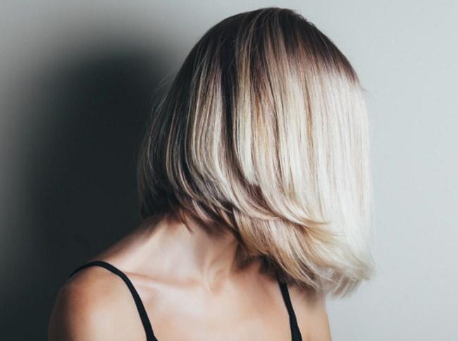 Шатуш на русых волосах