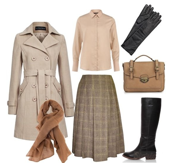 Верхняя одежда в английском стиле для женщин