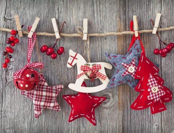 Новогодние игрушки в скандинавском стиле