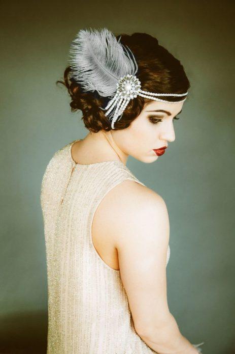 Платье и прическа в стиле Гэтсби