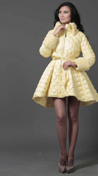 Пуховик-платье