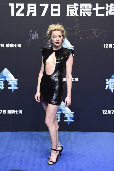Эмбер Хёрд в платье от Celine