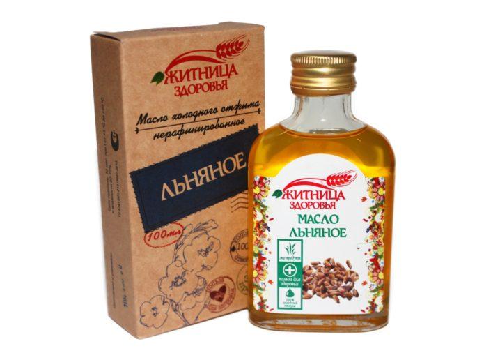 Льняное масло в бутылке