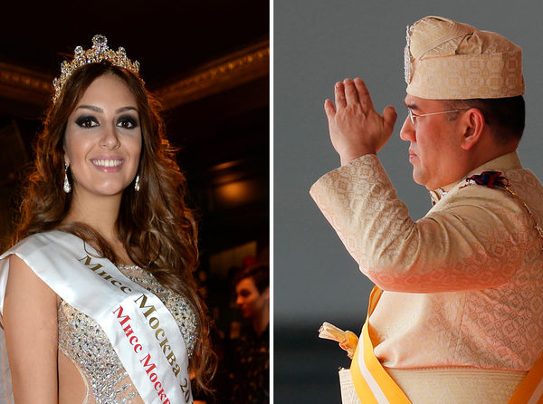 Король Малайзии отказался от престола после брака с «Мисс Москва»