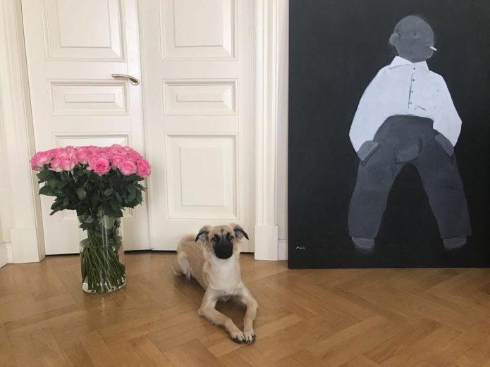 Данила Козловский и его собака
