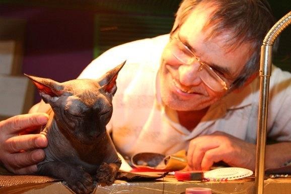 Бари Алибасов и его кот Чуча