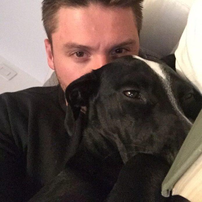 Сергей Лазарев и его собака Дейзи