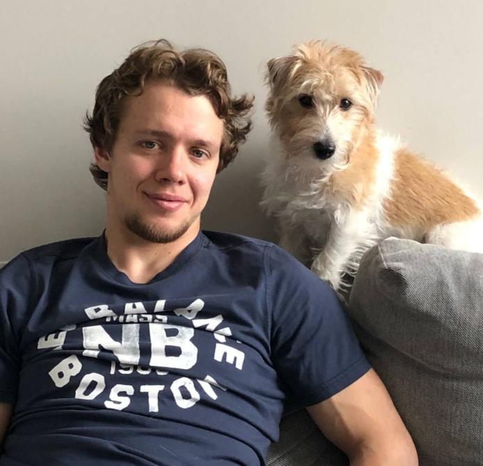 Артемий Панарин с собакой