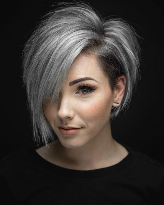 Стрижка пикси-боб на средние волосы