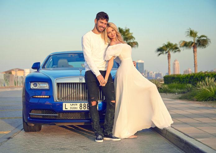 Фёдор Смолов и Виктория Лопырёва перед «свадьбой»