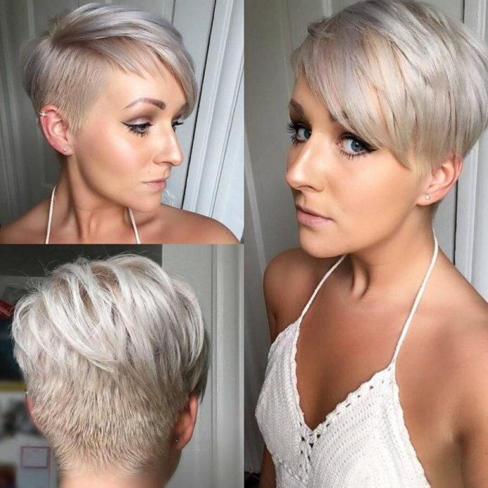 Стрижка пикси-боб на короткие волосы