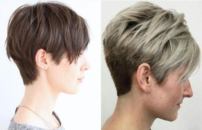 Стрижка пикси боб на короткие волосы