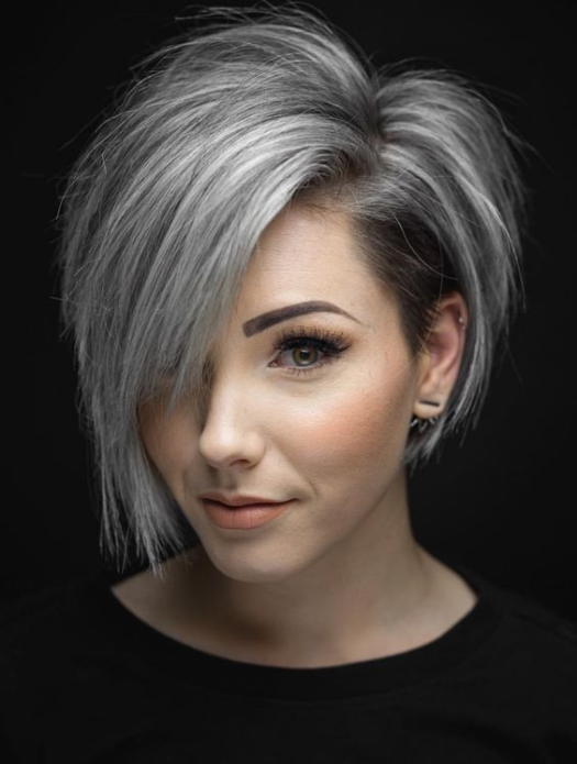 Стрижка пикси боб на средние волосы