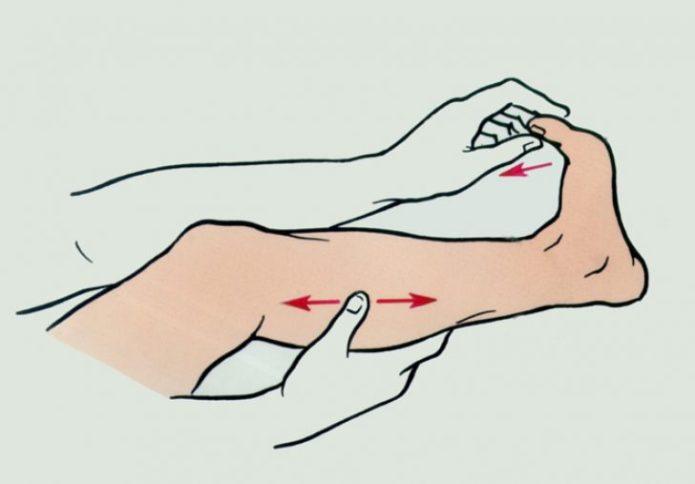 Механика движения при снятии судорог в икроножной мышце
