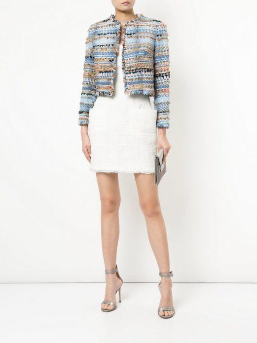 платье, туфли, пиджак-спенсер из твида