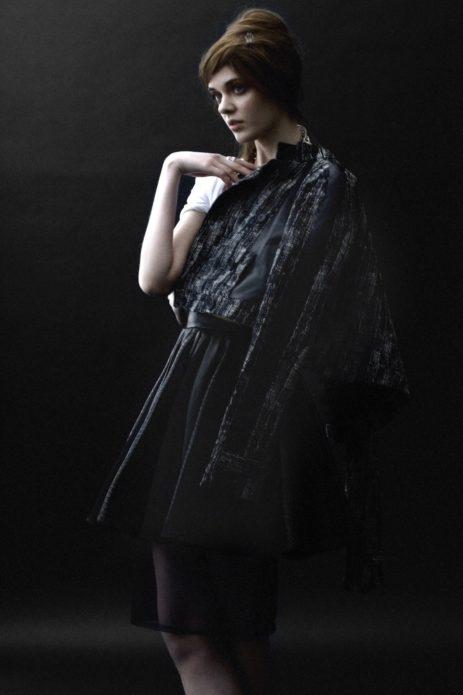 Мария Тельна в чёрном платье