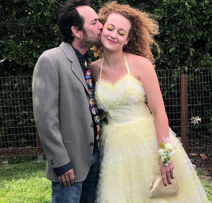Люк Перри с дочерью
