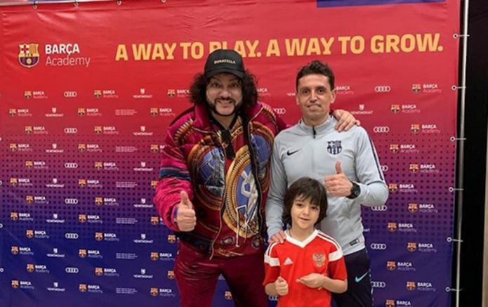 Киркоров отдал сына на футбол