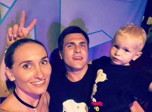 Анастасия Винокур с семьёй