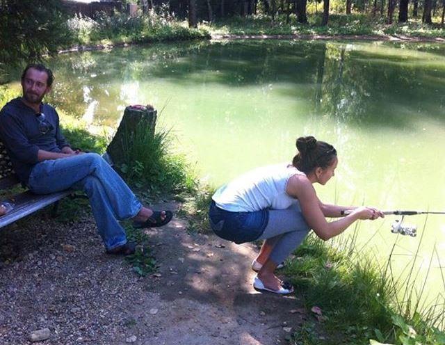 Хабенский с женой на рыбалке