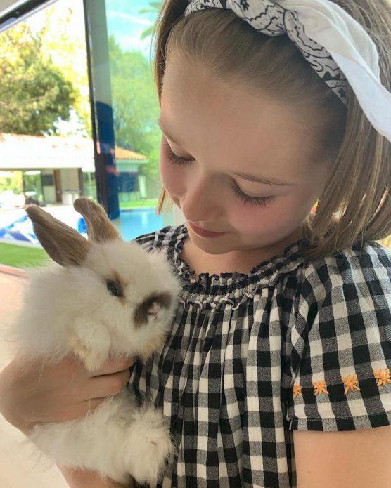 Харпер Бекхэм с кроликом
