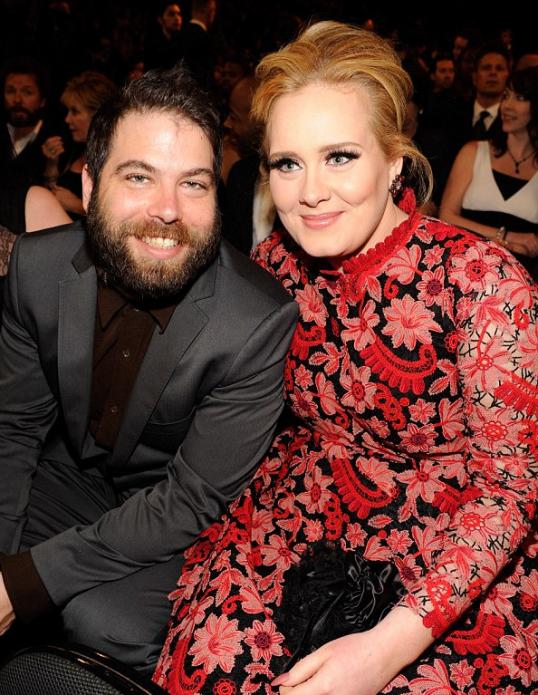 Адель с супругом