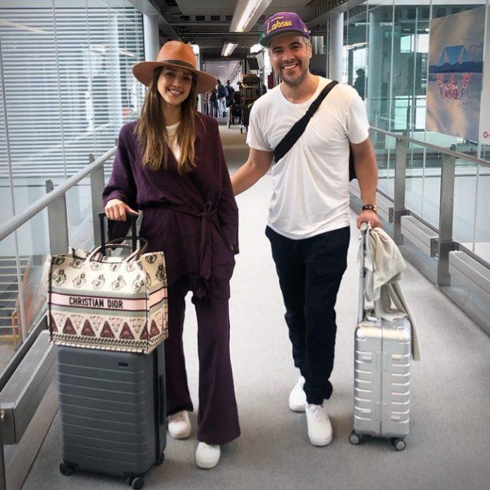 Джессика Альба с супругом