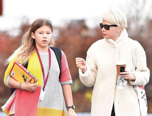 Мишель Уильямс с дочерью