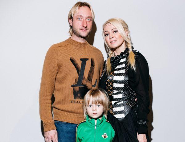 Плющенко и Рудковская с сыном
