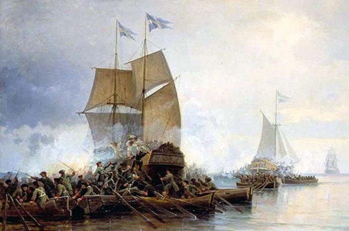 Взятие шведских кораблей