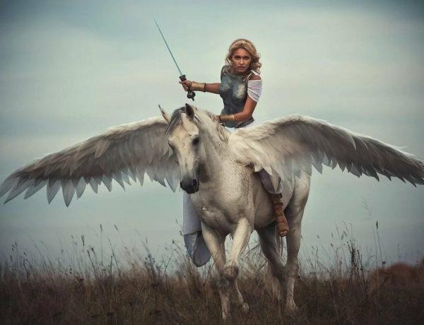 Девушка на крылатом коне