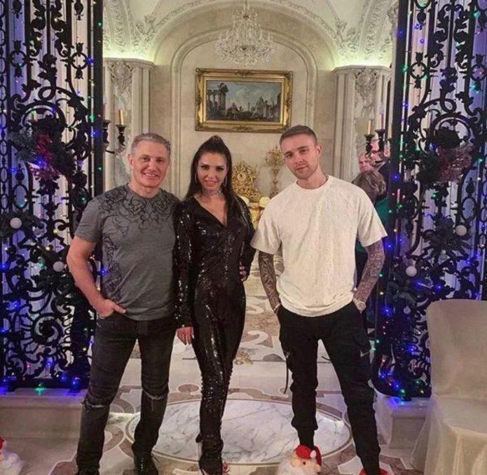 Борис Роттенберг с женой Кариной и Егор Крид