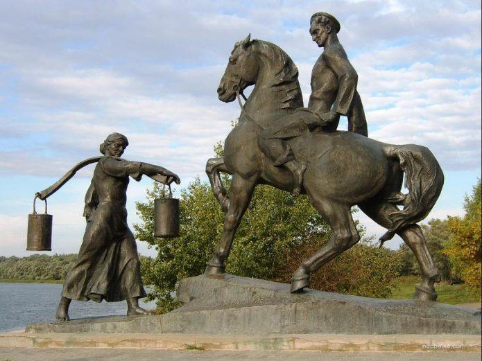 Памятник героям Шолохова