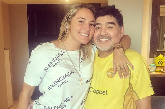 Росио Олива и Диего Марадона