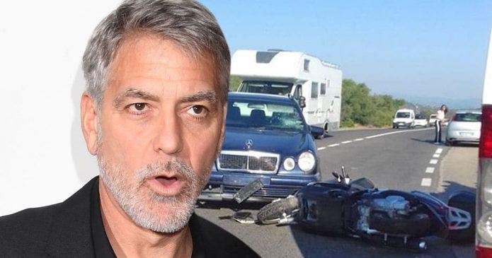 Джордж Клуни авария