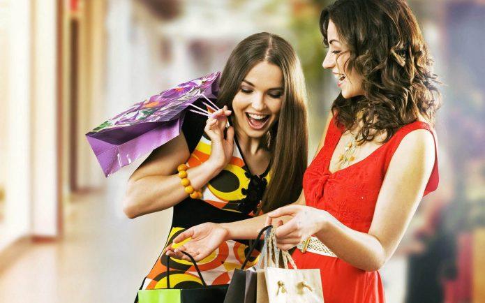 шопинг, покупки, девушки, радость