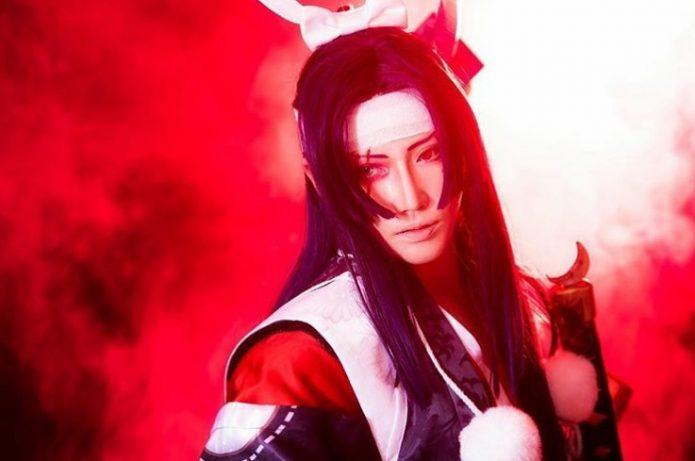 Рейка в образе самурая