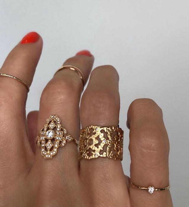 Фигурные кольца