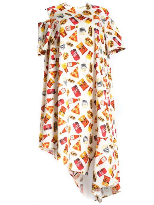 Платье с фуд-принтом