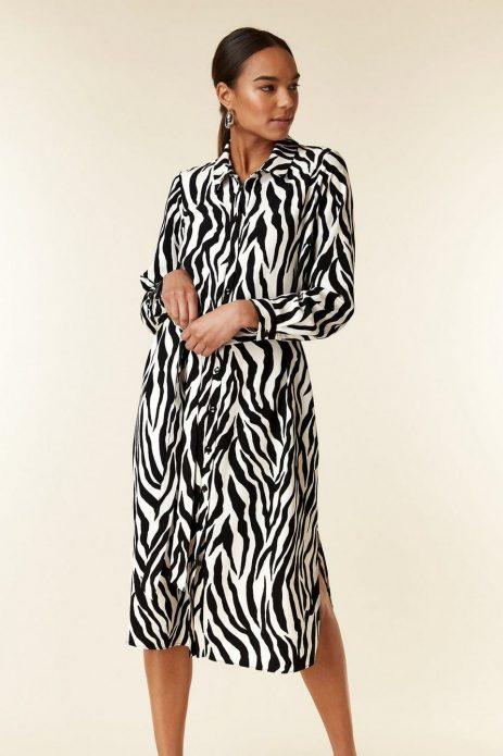 Платье с зебровым принтом