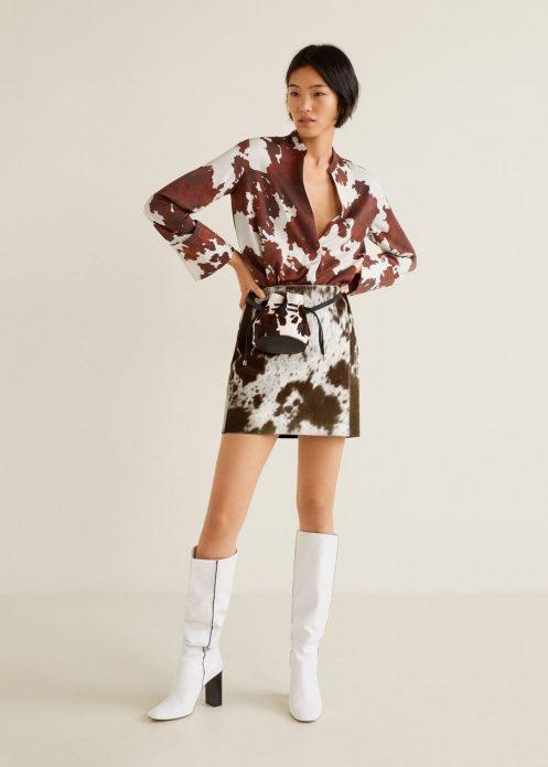 Женская одежда с принтом под корову