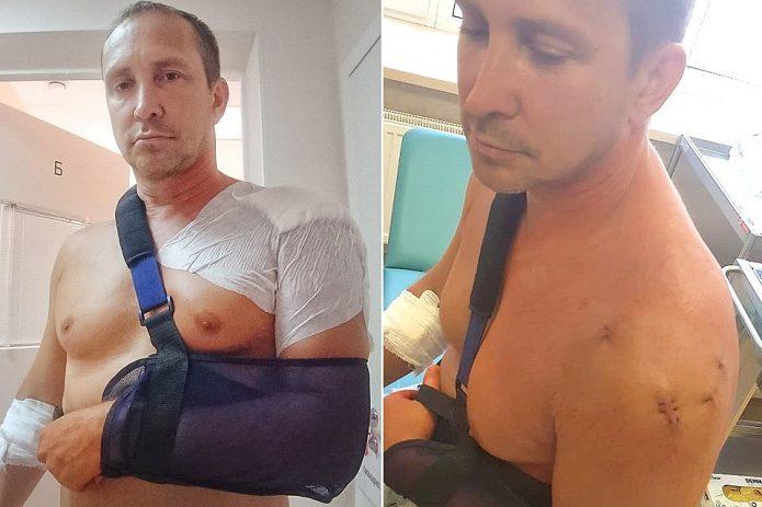 Данко прооперировали руку после ДТП