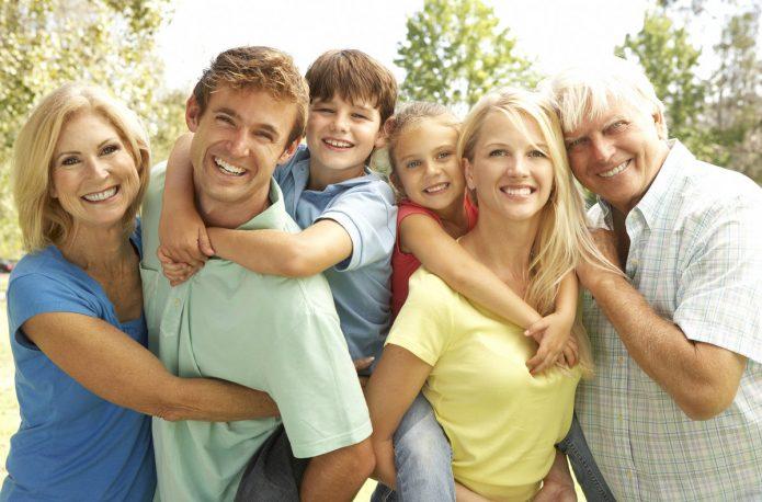 семья, улыбки, дети