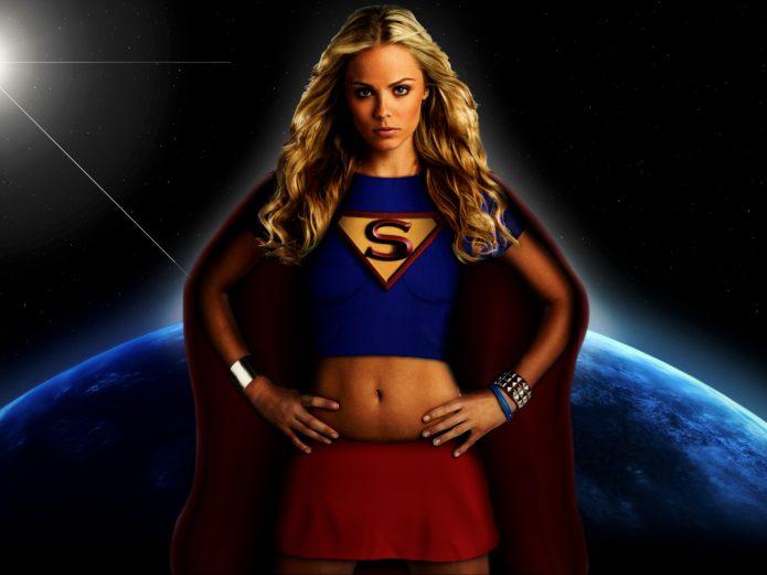 женщина супермен, космос, планета