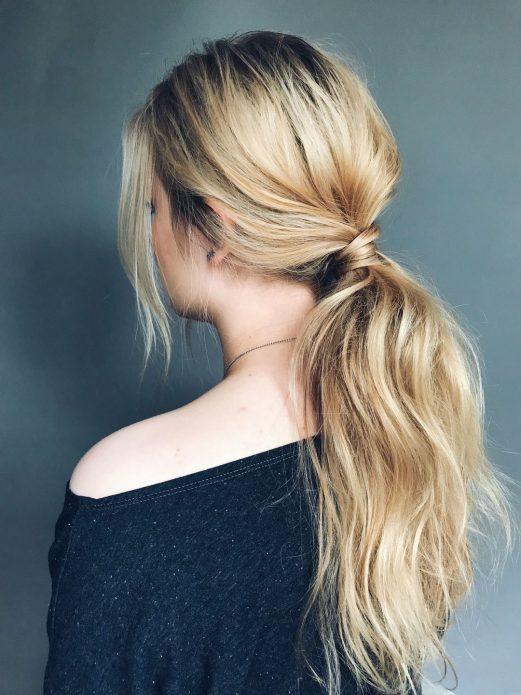 Причёска конский хвост