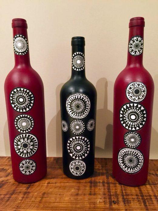 рисунки на бутылках
