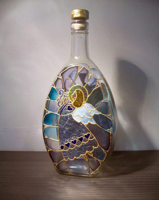 роспись бутылки витраж