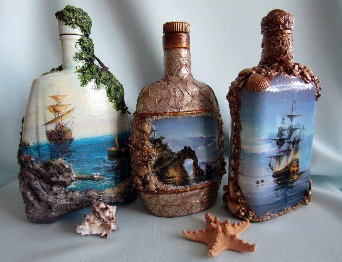 роспись подарочных бутылок