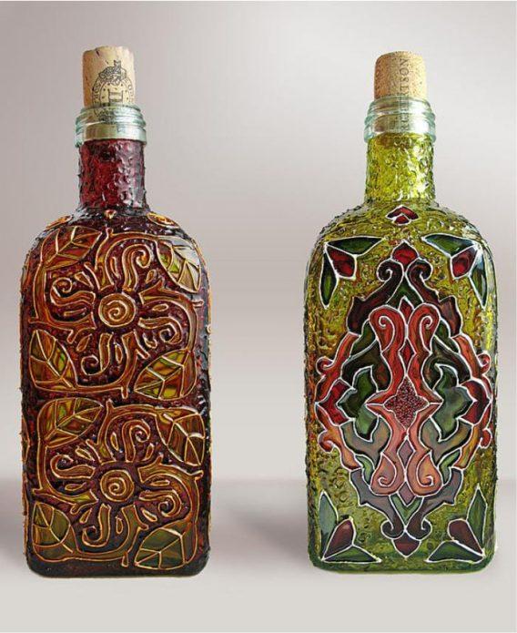 роспись бутылок своими руками