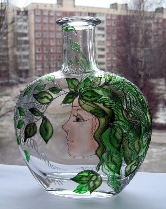 бутылка с росписью